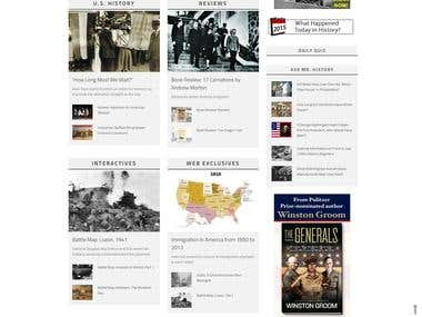 HistoryNet.com Website Design and Management