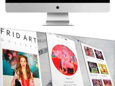 Fridart site, e-shop