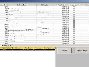MS Access database form