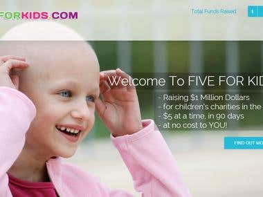 FiveForKids Site Design and Development