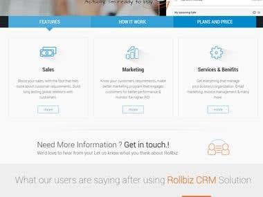 Online CRM system