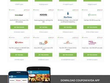 Online Coupon Deal website