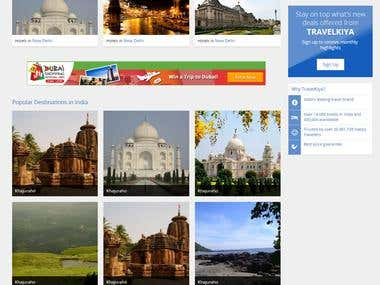 Online Travel Booking portal - http://travelkiya.in/
