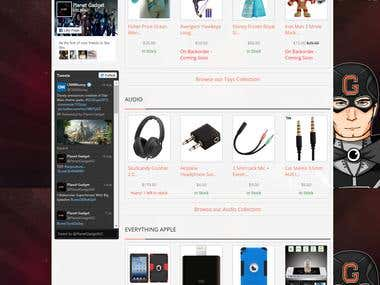 Online E-commerce website http://www.planetgadget.co.nz/