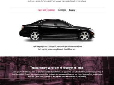 Car website design