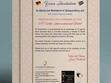 Chaine des Rotisseurs Invitation