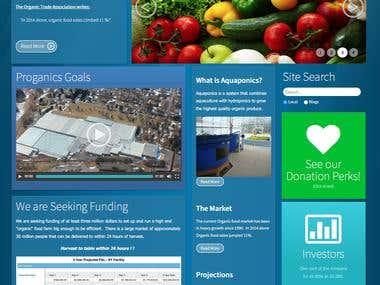 Proganics Crowdfunding website - Proganics.biz
