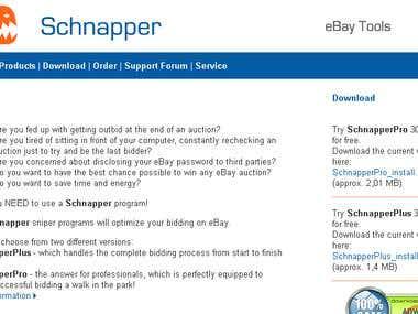Webproject - Schnapper