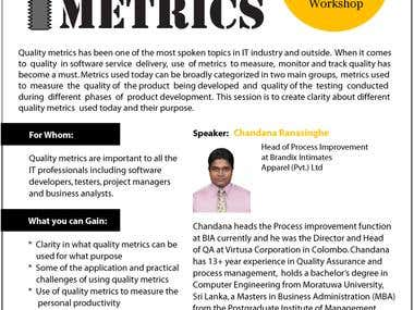 Metrics Management Flyer