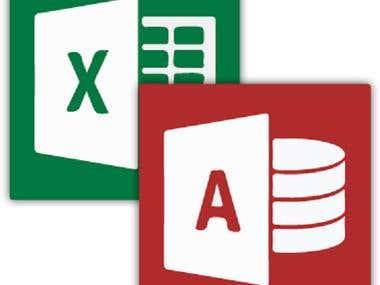I will support you Ms Access and Excel database solution