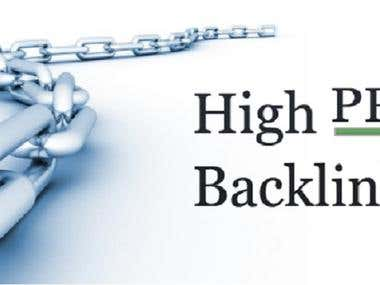 I will do 50 backlinks high PR