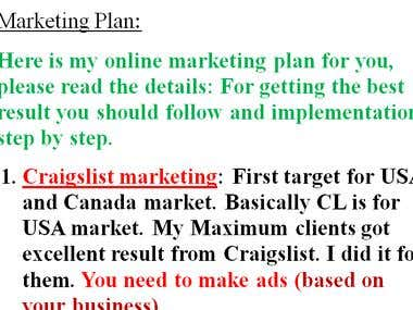 Help With Marketing Plan