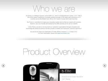 Smartphone website.