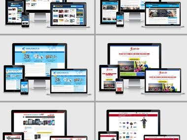 Web Design (Responsive Static / WordPress based)