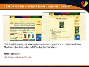 Corporate Site - Event & Publication Company