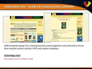 Corporate Site - Event & Publication Company