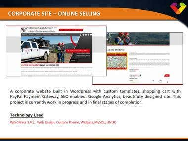 Corporate Site - Online Selling