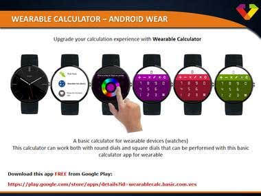 Wearable Calculator – Android Wear