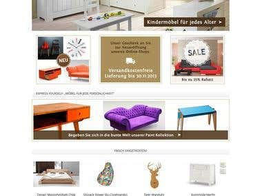 E-shop of furniture bilira.de