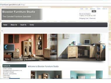 Online Furniture Shop in Joomla