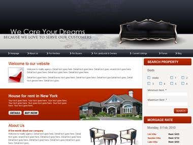 Real estate site with IDX/MLS