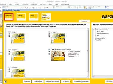PowerPoint add-in for a major European corporation