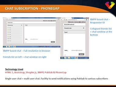 Chat Subscription - PhoneGap