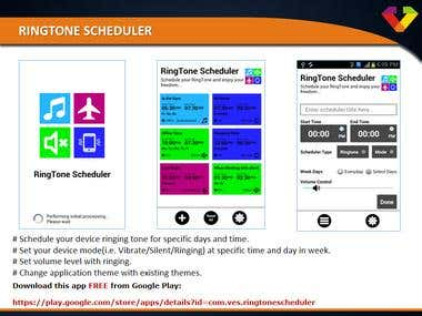 RingTone Scheduler