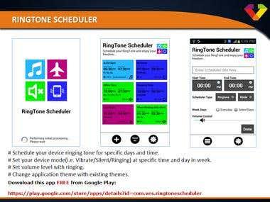 RingTone Scheduler