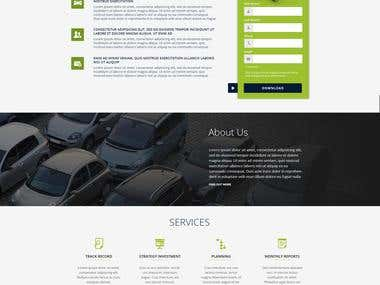 Landing page for a Parking Investment