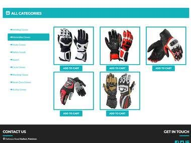 Diamond Gloves E-Commerce site