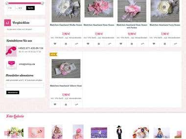 Programming of online shop lolilop.de
