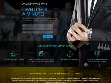 Wrist World Landing Page