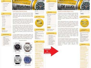 SwissWatchesReplica Website Eng-Spa Translation
