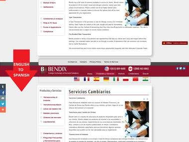 BendixFX Website Eng-Spa Translation