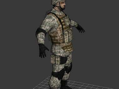 U.S. Soldier (Low-poly model)