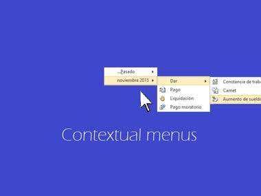 Contextual menus