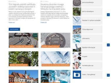 Web page www.nigrad.si