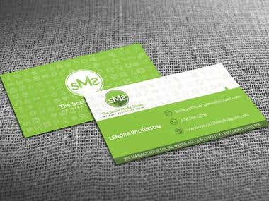 Social Media Squad Business Cards design