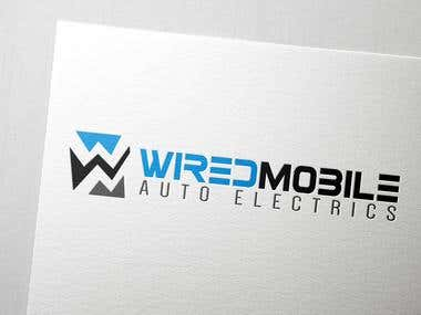 Wired Mobile Auto Electrics Logo Design