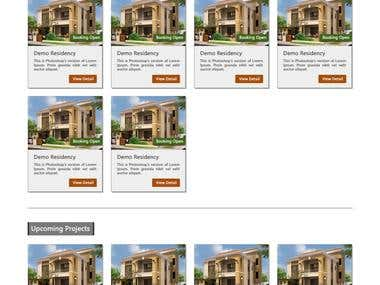 Real estate Template page