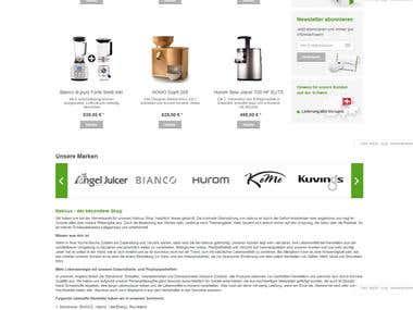 nativus.de - design, implementation, blog integration