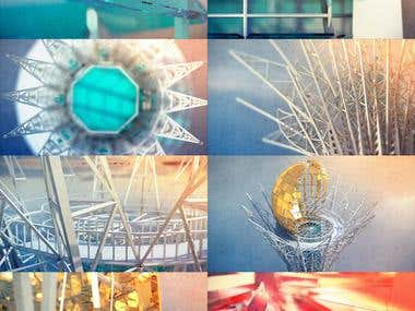 Screens from the 3d intro