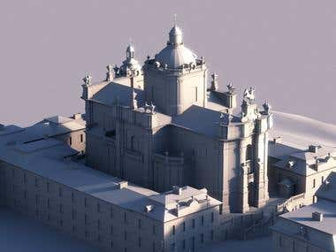 Low Poly St. George\'s Cathedral