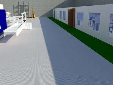 Layout 3d - Injection Factory + Office