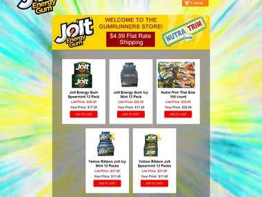 Custom Designed Shopify Website for Joltgum
