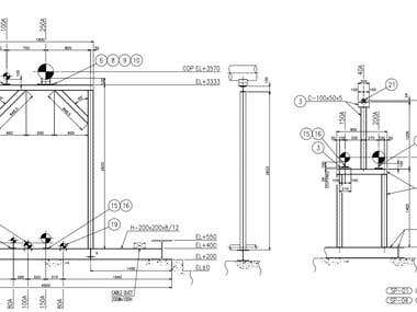 Pipe Support Drawing