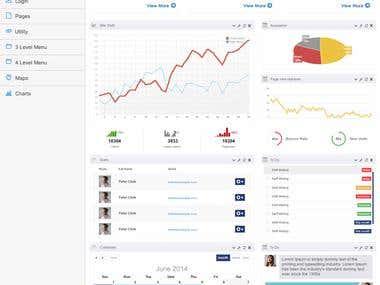 UI/UX interface Admin  Panel design