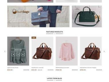 E-commerce Buntbag home page design