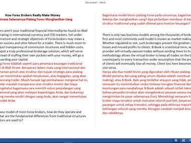 Translation - English to Indonesian (Article)